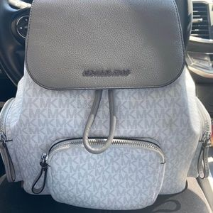 Michael Kors Abbey Medium Logo Backpack